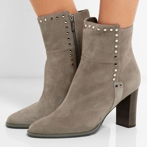 Jimmy Choo Harlow 80 Embellished Suede Ankle Boots